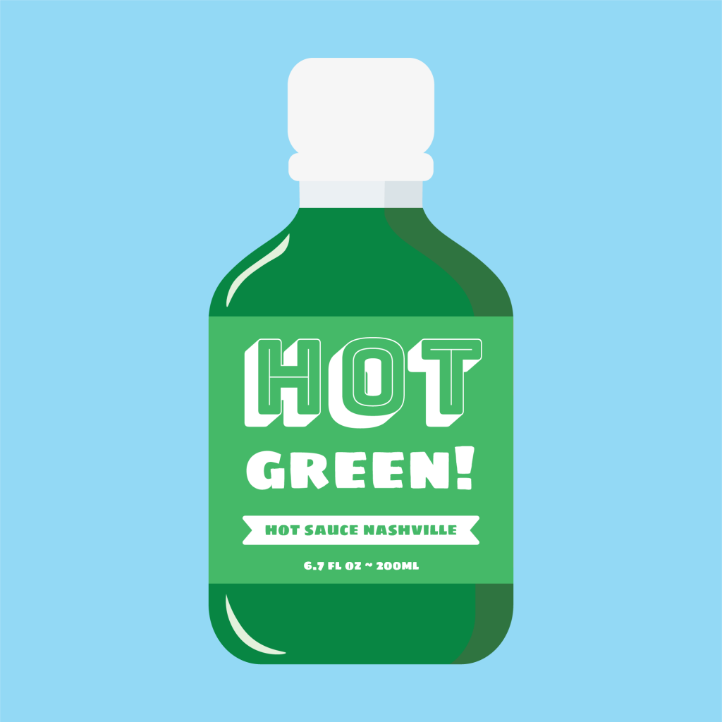 Hot Green Hot Sauce Cartoon