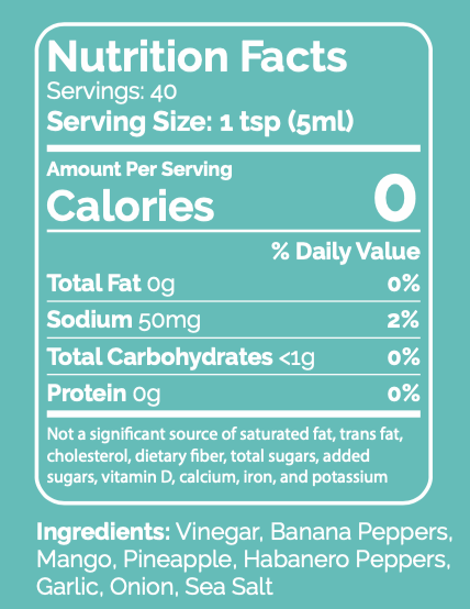 Hot Tropic Nutrition Facts