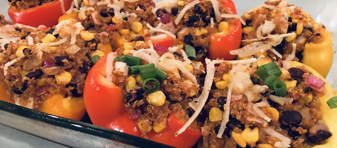 Stuffed Bell Peppers using Hot Sauce Nashville Hot Sauce